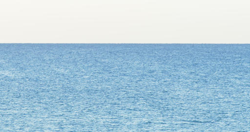 Morning sea view on the clear sky in summer day. Blue sea surface close up shot Live Action