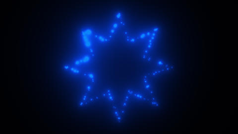 Flicker lights star in space - 3d modern backdrop for nightlife style, computer Footage