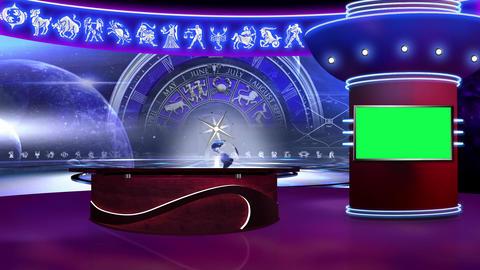 Astrology 02 - Virtual Green Screen Background Loop Footage