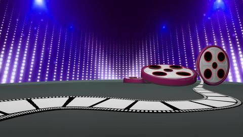 Entertainment TV Studio Set 66 - Virtual Green Screen Background Loop Footage