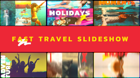 Fast Travel Slideshow After Effects Template