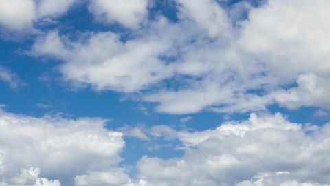 TimeLapse - Movement of summer clouds Footage