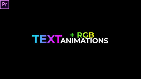 Trendy Text Animations Presets + (RGB) Premiere Pro Effect Preset