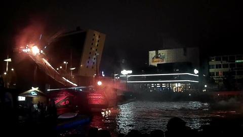 Ocean Jump Nightshow during the Kiel Week Footage