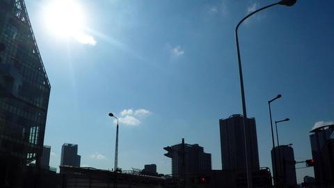 New urban transportation Yurikamome, near the bottom Toyosu Station Footage
