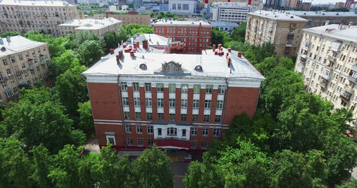 Aerial Moscow School Building