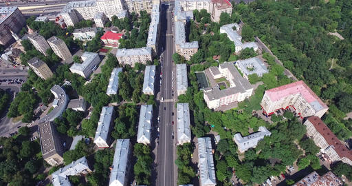 Aerial Moscow District Buildings and houses Footage