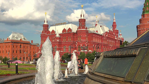 Historical Museum in Moscow Footage