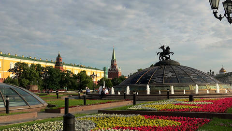 Manege Square in Moscow Footage