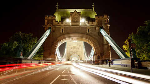 Time Lapse of the historic Tower Bridge in London England Footage