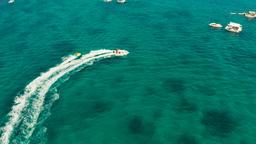 Sea attraction on the beach resort.Boracay island Philippines Footage