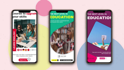 Instagram Stories: Educational After Effects Template
