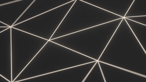 0939 Dark low poly displaced surface with white glowing lines Footage