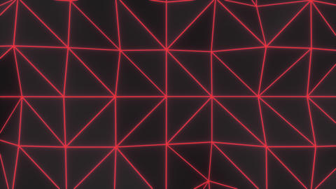 0952 Dark low poly displaced surface with red glowing lines Footage