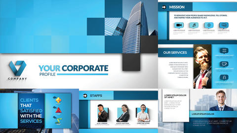 Cubicle Corporate Profile After Effects Template