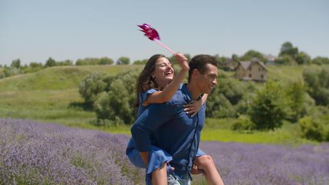 Multiethnic couple enjoying outdoor leisure Footage