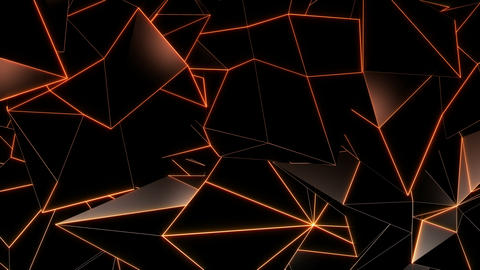 Background of abstract geometric triangles Videos animados