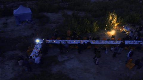 Summer outdoor party Footage