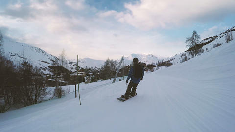 Winter vacations. Snowboarding Footage