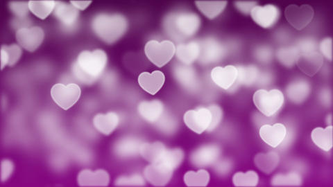 Love Bokeh Background Loop 01 Animation