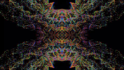 Magical bad trip effect light leak glittering background Footage