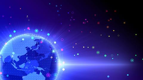 Earth on Digital Network 18 Q2Gx 4k Animation