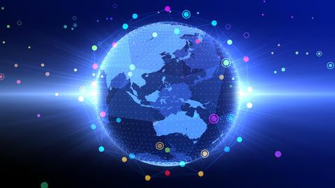 Earth on Digital Network 18 Q2G 4k Animation