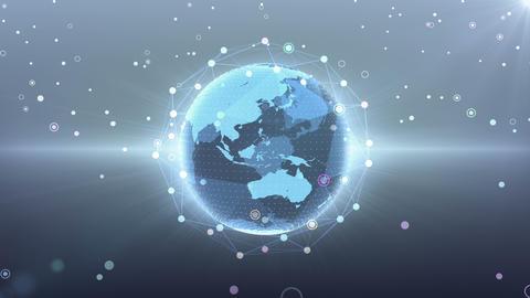 Earth on Digital Network 18 R2G 4k Animation