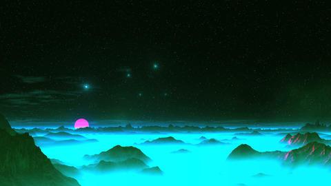 UFO Dance Over Alien Planet Animation