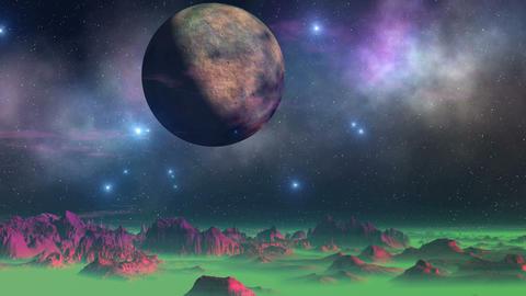 UFO Dance Around Alien Moon GIF