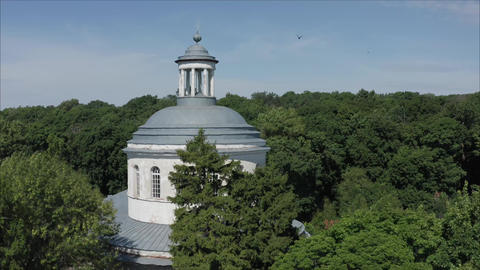 Abandoned church of the 17th century. beautiful old russian abandoned bell tower Footage