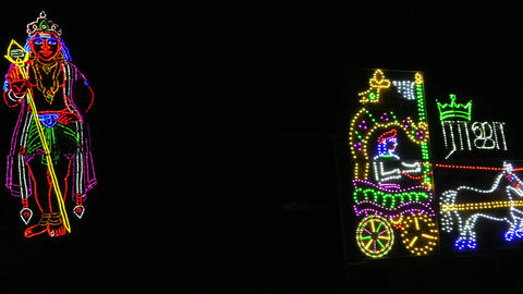 LED light painting of decoration and Hindu god Live Action