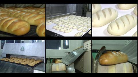Videowall bread Stock Video Footage
