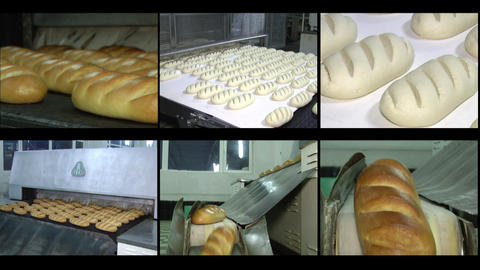 Videowall bread Stock Video Footage