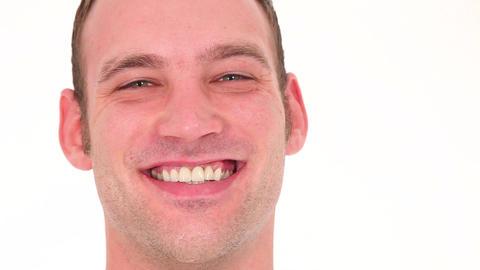 Portrait of joyful man Stock Video Footage