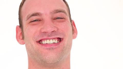 Portrait Of Joyful Man stock footage