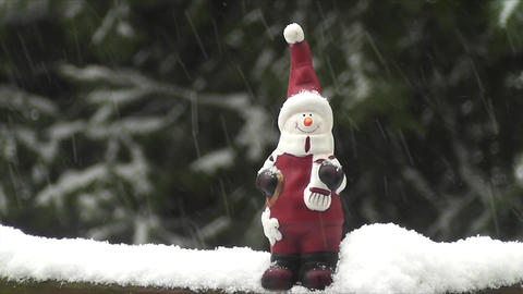 Santa Claus in snow Timelapse Stock Video Footage