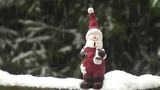 Santa Claus In Snow Timelapse stock footage