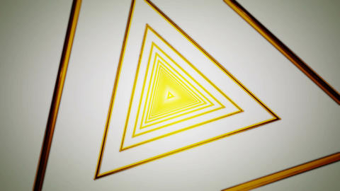 yellow triangle rotation Stock Video Footage