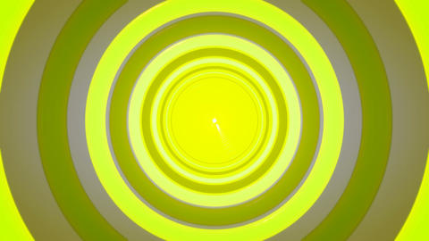 yellow radio tunnel Animation
