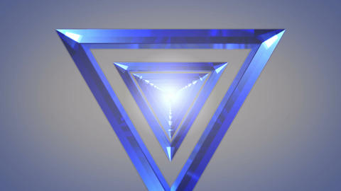 blue glass tunnel Stock Video Footage