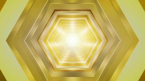 yellow hexagon tunnel Stock Video Footage