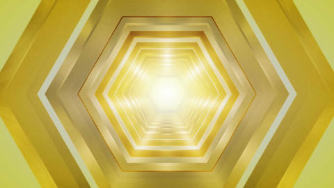 yellow hexagon tunnel Animation
