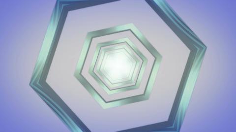 hexagon blue tunnel Stock Video Footage
