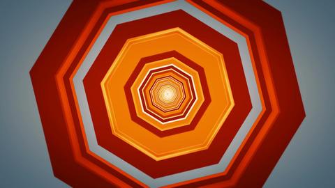 hexagon fire tunnel Stock Video Footage