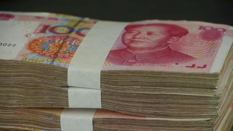 large sums of money RMB.Financial Freedom.Mao Zedong leader Avatar Footage