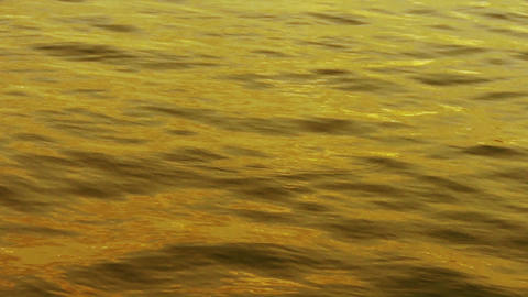 Water surface at dusk Stock Video Footage