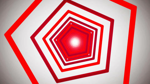 red pentagon tunnel Animation