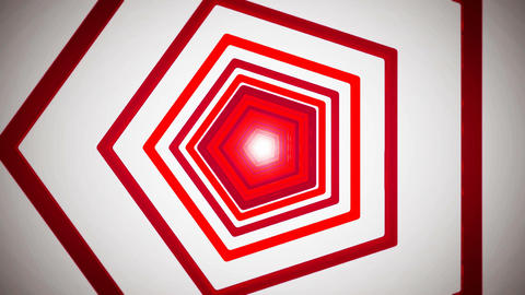 red pentagon tunnel Stock Video Footage