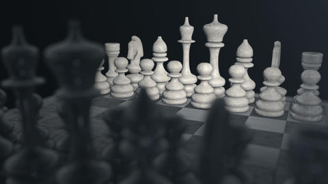 Chess Board 01 stock footage